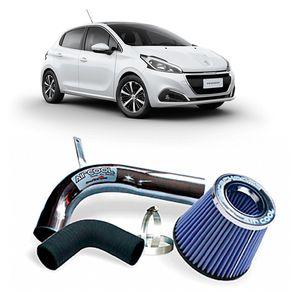 Filtro-Ar-Esportivo-Racechrome-Intake-Duplo-Fluxo-Azul-Peugeot-208-1.6-16V-13-