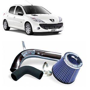 Filtro-Ar-Esportivo-Racechrome-Intake-Duplo-Fluxo-Azul-Peugeot-206-207-1.6-16V-03-