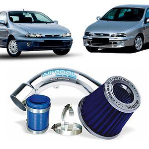 Filtro-Ar-Esportivo-Racechrome-Intake-Duplo-Fluxo-Azul-Fiat-Marea-Brava-1.6--1.8--2.0--2.4CC-Asp