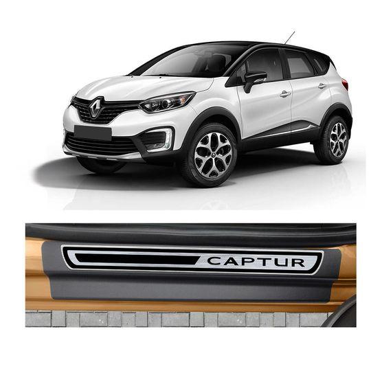 Soleira-Renault-Captur-4P-Premium-Aco-Escovado-Resinado
