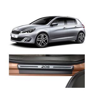 Soleira-Peugeot-308-4P-Premium-Aco-Escovado-Resinado