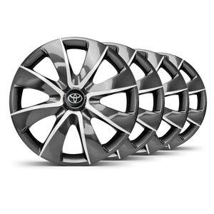 Jogo-4-Calota-Prime-Grafite-Prata-Aro-14--Toyota