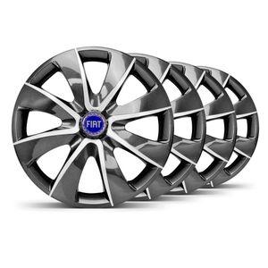 Jogo-4-Calota-Prime-Grafite-Prata-4x100--4x108--Fiat