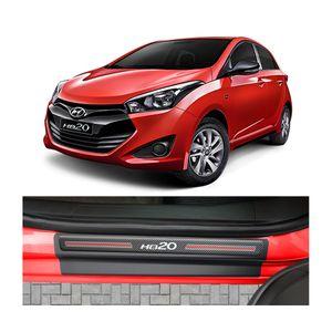 Kit-Soleira-Hyundai-HB20-4P-Carbono