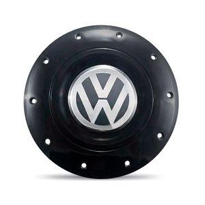 Calota-Centro-Roda-Ferro-VW-Amarok-Aro-13-14-15-4-Furos-Preta-Brilhante