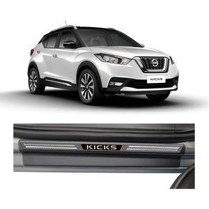Kit-Soleira-Nissan-Kicks-4P-Carbono