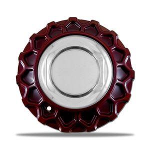 Calota-Centro-Roda-BBS-Nova-Zunky-Zk370-Vermelha--Porca-Cromada