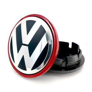 Calota-Centro-Roda-VW-Passat-Jetta-B-Vermelha