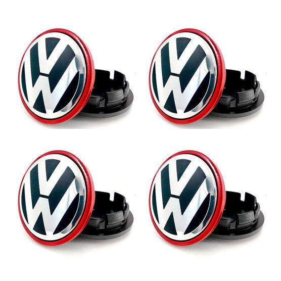 Jogo-4-Calota-Centro-Roda-VW-Passat-Jetta-B-Vermelha
