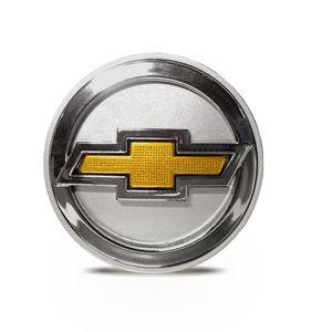 Calota-Centro-Roda-Big-Zunky-Vectra-Elite-2006-51mm-Prata-Com-Botton-Dourado