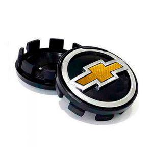 Calota-Centro-Roda-Big-Zunky-Vectra-Elite-2006-51mm-Preta-Com-Botton-Dourado