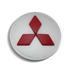 Calota-Centro-Roda-Mitsubishi-Outlander-Prata-Vermelha-Alto-Relevo