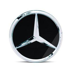 Calota-Centro-Roda-Mercedes-AMG-Preta-Brilhante