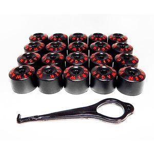 Kit-Capa-de-Parafuso-VW-Chave-17-Letras-Vermelha-20-pecas