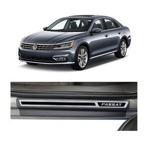 Kit-Soleira-Volkswagen-Passat-2018-4P-Aco-Escovado-Resinado