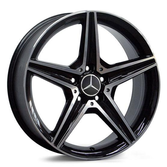 Jogo-de-Roda-Mercedes-C250-Sport-Preta-Diamantada