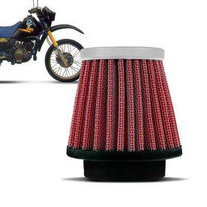 Filtro-Ar-Esportivo-Inbox-Racechrome-RCI-Yamaha-43MM-DT200-DT180-Vermelho