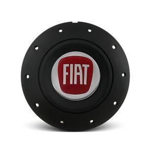 Calota-Centro-Roda-Ferro-VW-Amarok-Aro-13-14-15-4-Furos--Preta-Fosca-Emblema-Fiat