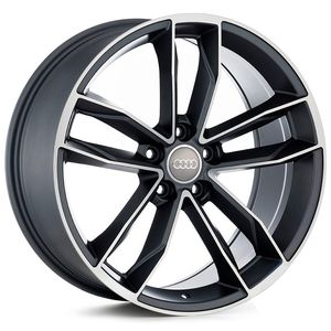 Roda-Audi-S5--Grafite-com-face-polida