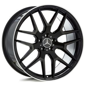 Jogo-de-Roda-Mercedes-GLE-Preta-Diamantada