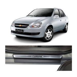 Kit-Soleira-Chevrolet-Classic-1996-A-2016-4P-Aco-Escovado-Resinado