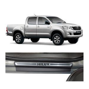 Kit-Soleira-Toyota-Hilux-2008-A-2015-4P-Aco-Escovado-Resinado