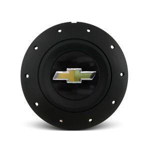 Calota-Centro-Roda-Ferro-VW-Amarok-Aro-13-14-15-4-Furos--Preta-Fosca-Emblema-GM-Preto