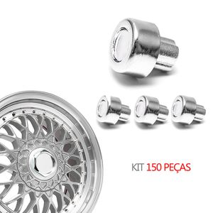 Kit-150-Rebite-BBS-Importado-Cromado--MODELO-Nº-05----BBS-ZUNKY