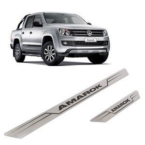 Kit-Soleira-Volkswagen-Amarok-Inox-Reta
