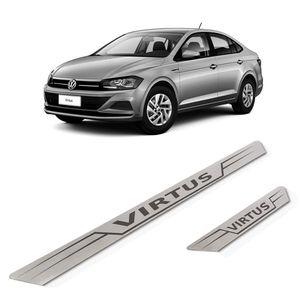 Kit-Soleira-Volkswagen-Virtus-Inox-Reta