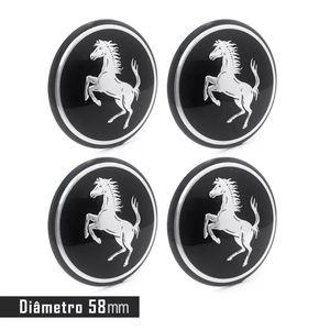 Jogo-4-Emblema-Roda-Ferrari-Preto
