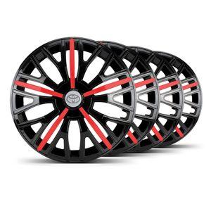 Jogo-4-Calota-Triton-Sport-Aro-14-Preta--Vermelha-Toyota-Prata