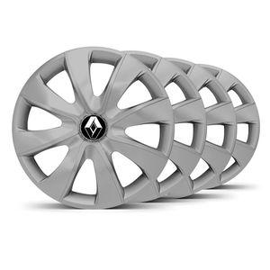 Jogo-4-Calota-Prime-Aro-14-Prata-Renault