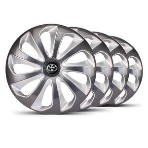 Jogo-4-Calota-Velox-Aro-14-Grafite--Prata-Toyota-Preta