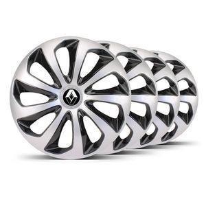 Jogo-4-Calota-Velox-Aro-14-Prata--Preta-Renault