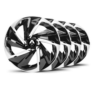 Jogo-4-Calota-Nitro-Aro-14-Preta--Prata-Renault