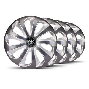 Jogo-4-Calota-Velox-Aro-15-Grafite--Prata-Toyota-Preta