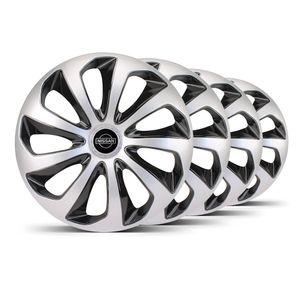 Jogo-4-Calota-Velox-Aro-15-Prata--Preta-Nissan