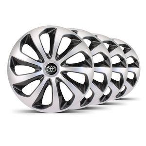 Jogo-4-Calota-Velox-Aro-15-Prata--Preta-Toyota-Preta