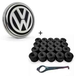 Calota-Centro-Roda-VW-Passat-Jetta-G6-B-Cromada---Chave-17-Letras-Pretas-20-pecas-1a