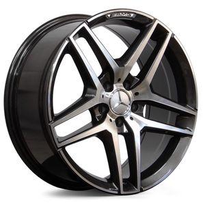 Jogo-de-Roda-Mercedes-Classe-E-Grafite-Diamantada