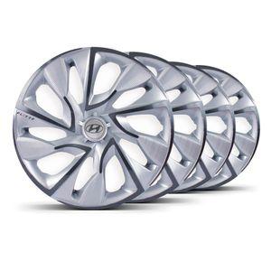 Jogo-4-Calota-DS4-Aro-14-Silver-Cup-4x100--4x108-Hyundai-Prata
