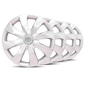 Jogo-4-Calota-Prime-Unicolor-Prata-Toyota-Prata
