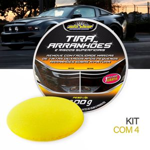 Kit-4-Cera-Tira-Arranhoes-Autoshine-100g