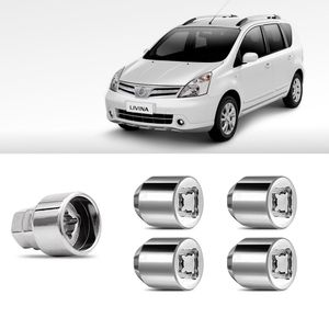 Jogo-Parafuso-Porca-Antifurto-Nissan-Livina-1a