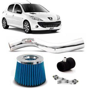 Filtro-Ar-Esportivo-Racechrome-Intake-Duplo-Fluxo-Azul-Peugeot-207-1.4-8V-09-