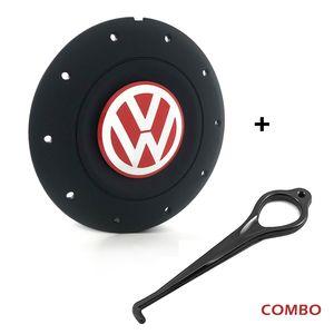 Calota-centro-Roda-Amarok-4-Furos-Preta-Fosca-Aro-13-14-15-Com-Chave-Para-Remocao-Emblema-Volkswagen-VW-Vermelho-1a