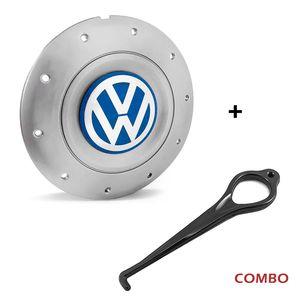 Calota-centro-Roda-Amarok-4-Furos-Prata-Aro-13-14-15-Com-Chave-Para-Remocao-Emblema-Volkswagen-VW-Azul-1a