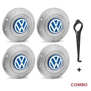 Calota-centro-Roda-Amarok-4-Furos-Prata-Aro-13-14-15-Com-Chave-Para-Remocao-Emblema-Volkswagen-VW-Azul-4a