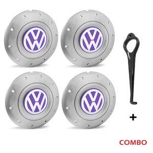 Calota-centro-Roda-Amarok-5-Furos-Prata-Com-Chave-Para-Remocao-Emblema-Volkswagen-VW-Lilas-4a